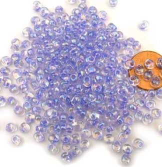 Lilac Lined Crystal AB Megatamas/ 4mm -