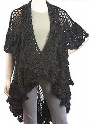 Lisette/ Sweater-Shawl Pattern from Gourmet Crochet - Shawls/Stoles