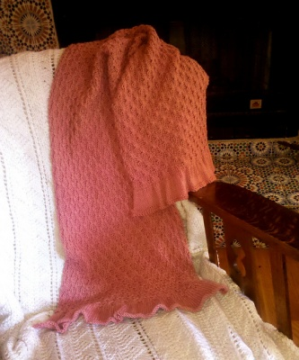 Little Lady Wrap/ Shawl Pattern by Heidi -