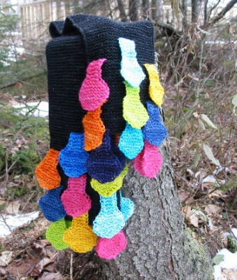 Lollipop Scarf/ Pattern by Lucy Neatby - Scarves and Cowls