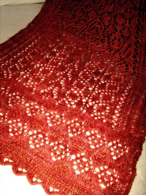 Magic Carpet Ride/ Beaded Scarf Pattern - Scarves and Cowls
