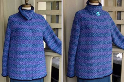 Mystic Mosaic Cardigan/ Pattern by Maureen Mason-Jamieson - Garments and More