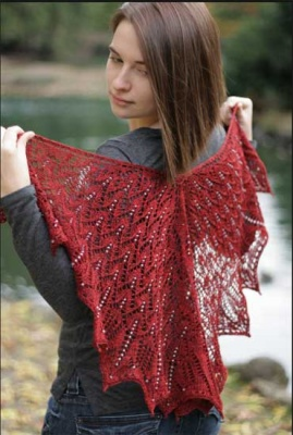 Midsommer/ A Beaded Shawl Pattern by Sivia - Shawls/Stoles