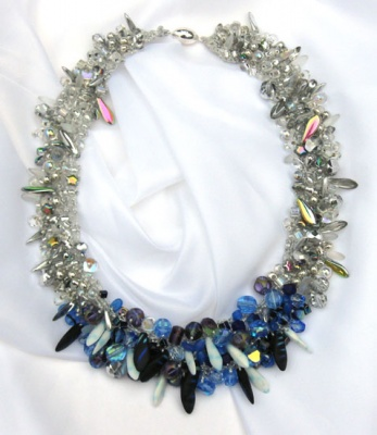 Moonrise Neckpiece/ Variation/ Sun and Stars - Jewelry Creations