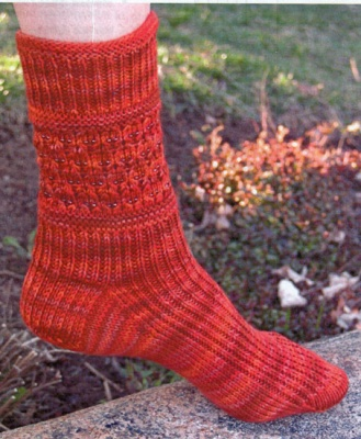 Nichole Beaded Band Socks/ Pattern for Schaefer Yarn - Socks