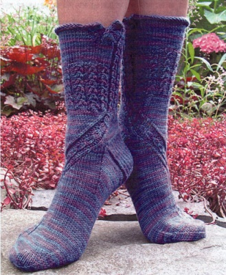 Nichole Embonpoint Socks/ Pattern for Schaefer Yarn - Socks