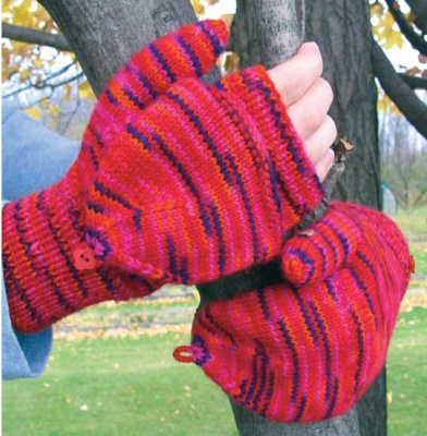 Nichole Flip-Top Mittens/ Pattern from Schaefer -