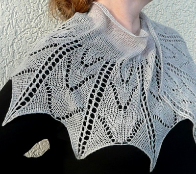 Pavonia/ Beaded Shawlette/ Pattern by Susanna IC - Shawls/Stoles