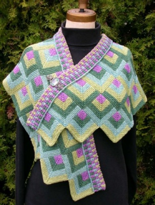 Petals Scarf/ Pattern by Maureen Mason-Jamieson - Scarves and Cowls