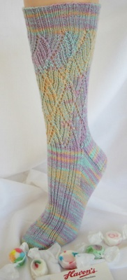Pulled Salt Water Taffy Socks/ Pattern by Jackie E-S - Socks
