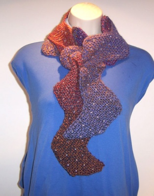 Rick Rack Reversible Beaded Scarf/ Pattern by Catie - Scarves and Cowls