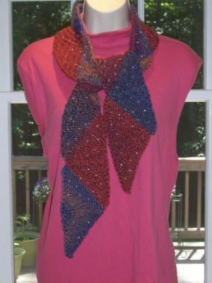 Ridgewood Reversible Beaded Scarf/ Pattern by Catie - Scarves and Cowls