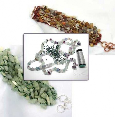 River Bed Bracelet:  Fluorite Chips