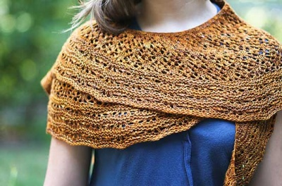 Sunflower Shawlette/ Pattern by Rose Beck - Shawls/Stoles