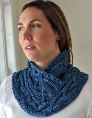 Sandall Cowl/ Celtic Knit Pattern - Scarves and Cowls