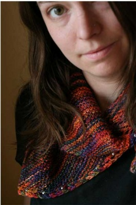 Saturday/ A Beaded Shawl Pattern - Scarves and Cowls