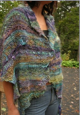 Scotian Meadow Wrap/ pattern by Jane Thornley - Shawls/ Stoles