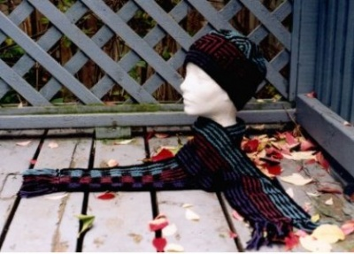 Shadow Play Hat and Scarf Set pattern -