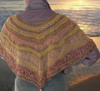 Shell Dance Capelet/ pattern by Jane Thornley - Shawls/Stoles