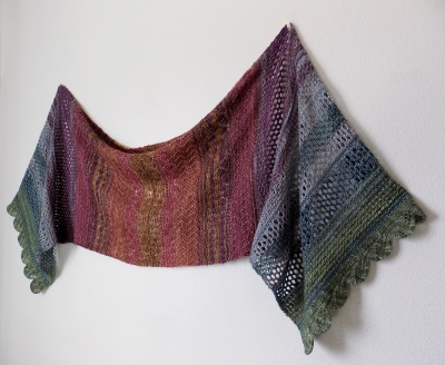 Monica's original shawl, just to show you the design.