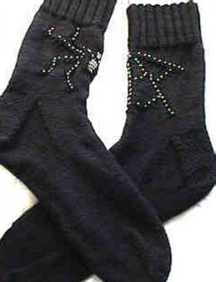 Spider Web Sockies/ Pattern by Jackie E-S - Socks