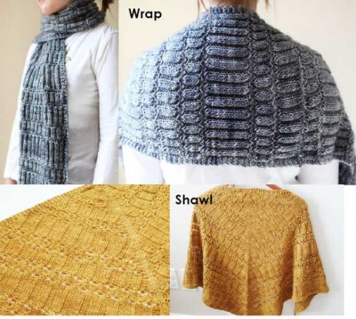 Stacked Columns/ Wrap or Shawl Pattern by Rose Beck - Shawls/Stoles