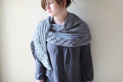Stucco/ Shawlette Pattern by Rose Beck - Shawls/Stoles