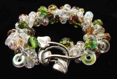 Fire Polish Crystal Swirls/ Bracelet Kit/ Many Options - Jewelry Creations