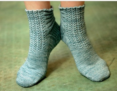 Tallulah Socks/ Pattern from Sivia Harding - Socks