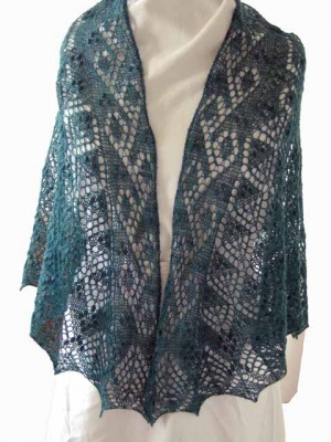Tilia/ Beaded Shawl Pattern from Fiber Dreams/ Bead Option - Shawls/Stoles