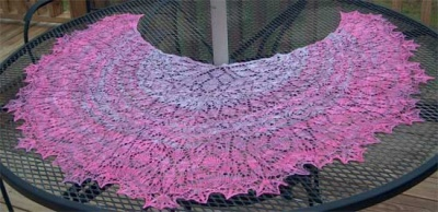 Three Quarter Time/ Special Beaded Version/Mary White Pattern - Shawls/ Stoles