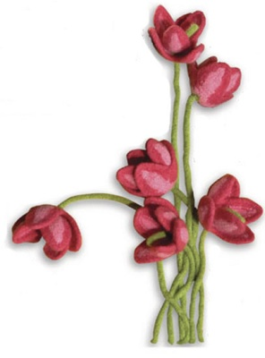 Just Tulips/ Pattern by Nora J Bellows of Noni Designs -