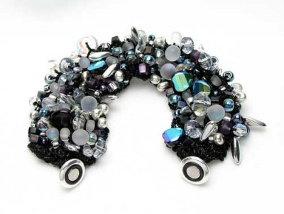 Bead Stew Bracelet/ Twilight - Jewelry Creations