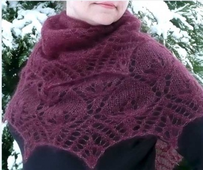 Winter Lilies/ Shawl Pattern by Susanna IC - Shawls/Stoles