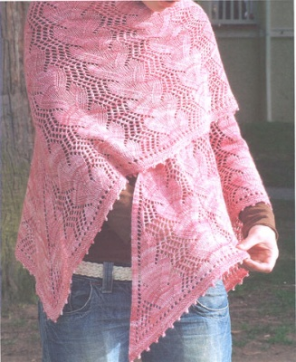 Waves in the Square Shawl/ Pattern - Shawls/Stoles